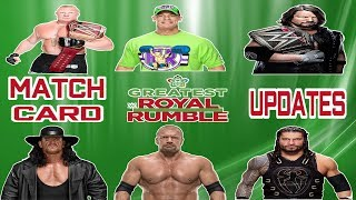 WWE GREATEST ROYAL RUMBLE MATCH CARD UPDATES | Wrestling Entertainment Tamil