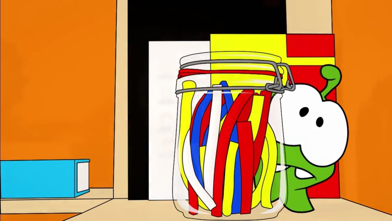 Раскраска с Ам Нямом - Учим цвета! - Робот (мультик 8 ...