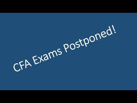 CFA June 2020 Exams Postponed!