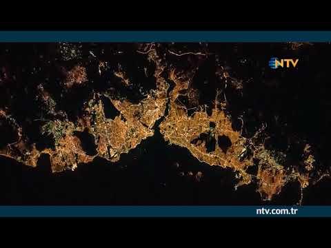 uzaydan istanbul manzarası