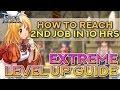 2ND JOB IN 10 HOURS!! 10 STEPS FOR EXTREME LEVEL UP | Ragnarok Mobile Eternal Love