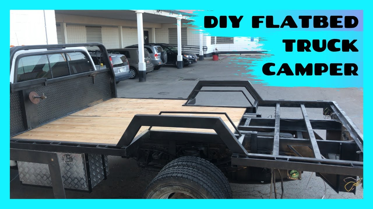 Flatbed Truck Camper Build Part 2 The Bed Youtube
