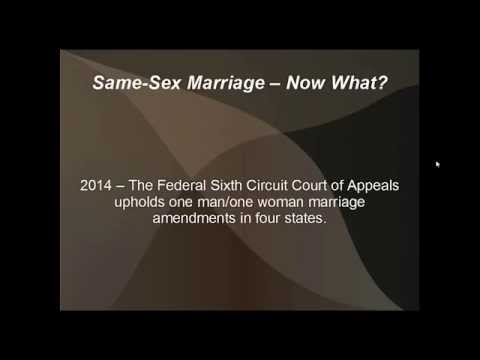 Legal Same-Sex Marriage - Now What?