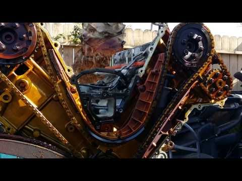 BMW e38 740 M62 Engine Failed Timing Guides Motor