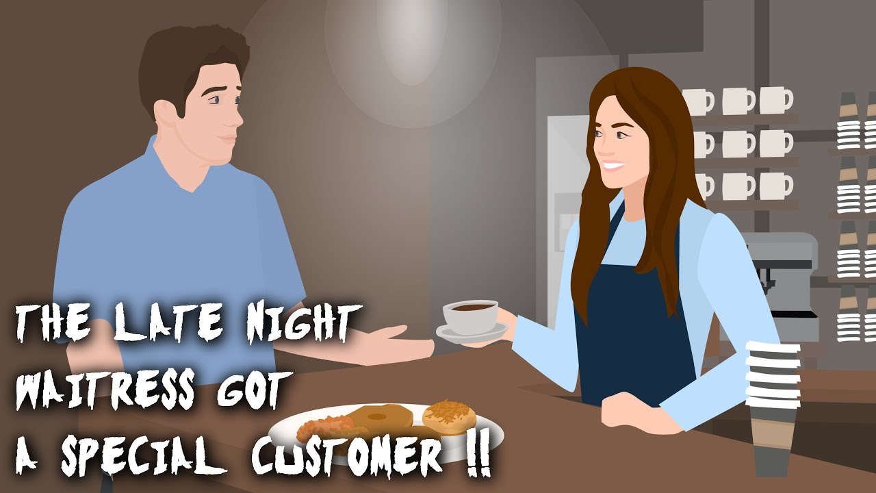 That Naive Waitress got a Special Customer !! Horror Story Animated