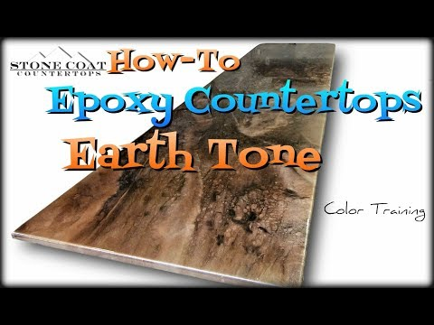 Earth Tone Epoxy Countertops, How-To