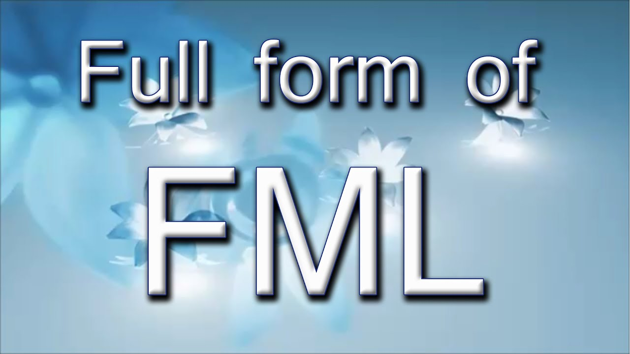 Full Form Of FML - YouTube