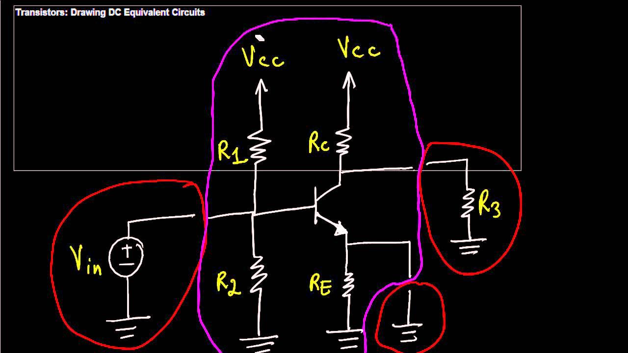 BJT Amplifiers DC Equivalent Circuit YouTube