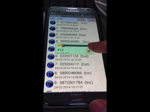 TVRS App / Android โปรแกรมบันทึกเสียงสนทนาโทรศัพท์