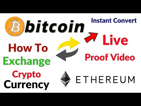 Bitcoin To Ethereum instant exchange Convert CryptoCurrency Live With Biggest Exchanger In The World
