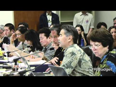 2012 Opening Conference Remarks on the Hawaii State Budget