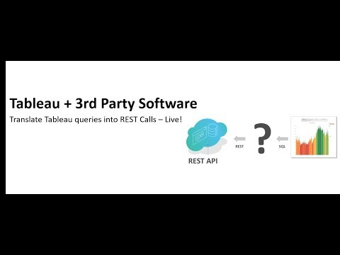 How to connect Tableau to REST APIs LIVE via Progress?
