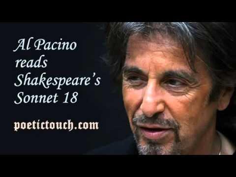 Al Pacino William Shakespeare  Sonnet 18