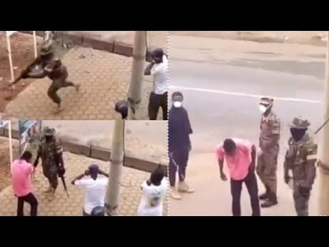 The Full Video Of The Man Who Slapped The Soldier For Enforcing The Lockdown In Kumasi