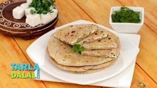 Paneer and Onion Stuffed Paratha (Calcium Rich Recipe) by Tarla Dalal