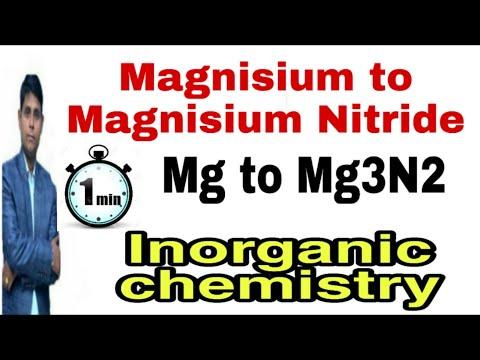 Magnisium To Magnisium Nitride|magnisium Se Magnisium Nitride|Mg To Mg3N2