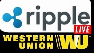 Western Union Ripple XRP APP LIVE! Zero Transaction Fee