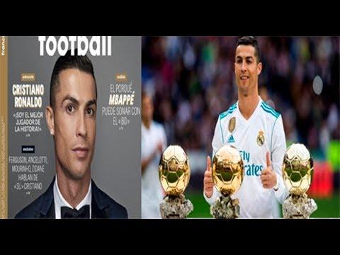 """Cristiano Ronaldo: """"Soy el mejor jugador de la historia"""". RONALDO """"EL HUMILDE""""."""