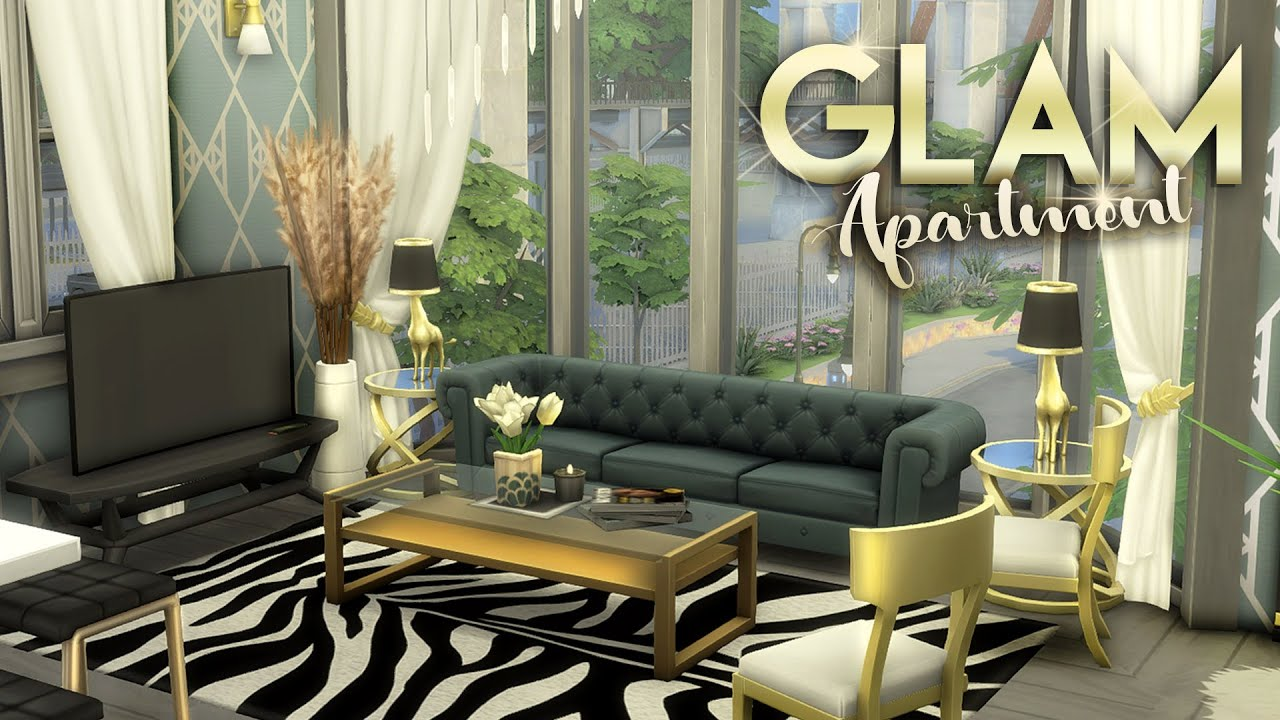 FASHION MODEL'S GLAM APARTMENT [NO CC] || The Sims 4: Apartment Renovation / Speed Build