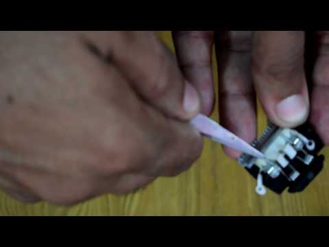 philips trimmer cleaning | how to repair philips trimmer qt series  blade assembly | open balde