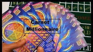 CARNET de MILLIONNAIRE ♣️ Je deviens Millionnaire ! ♣️ Grattage Tickets de Jeu FDJ ♣️