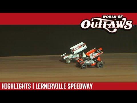 World of Outlaws Craftsman Sprint Cars Lernerville Speedway July 17, 2018 | HIGHLIGHTS
