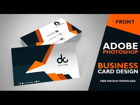 business card design in photoshop cs6 | Front | Photoshop Tutorial