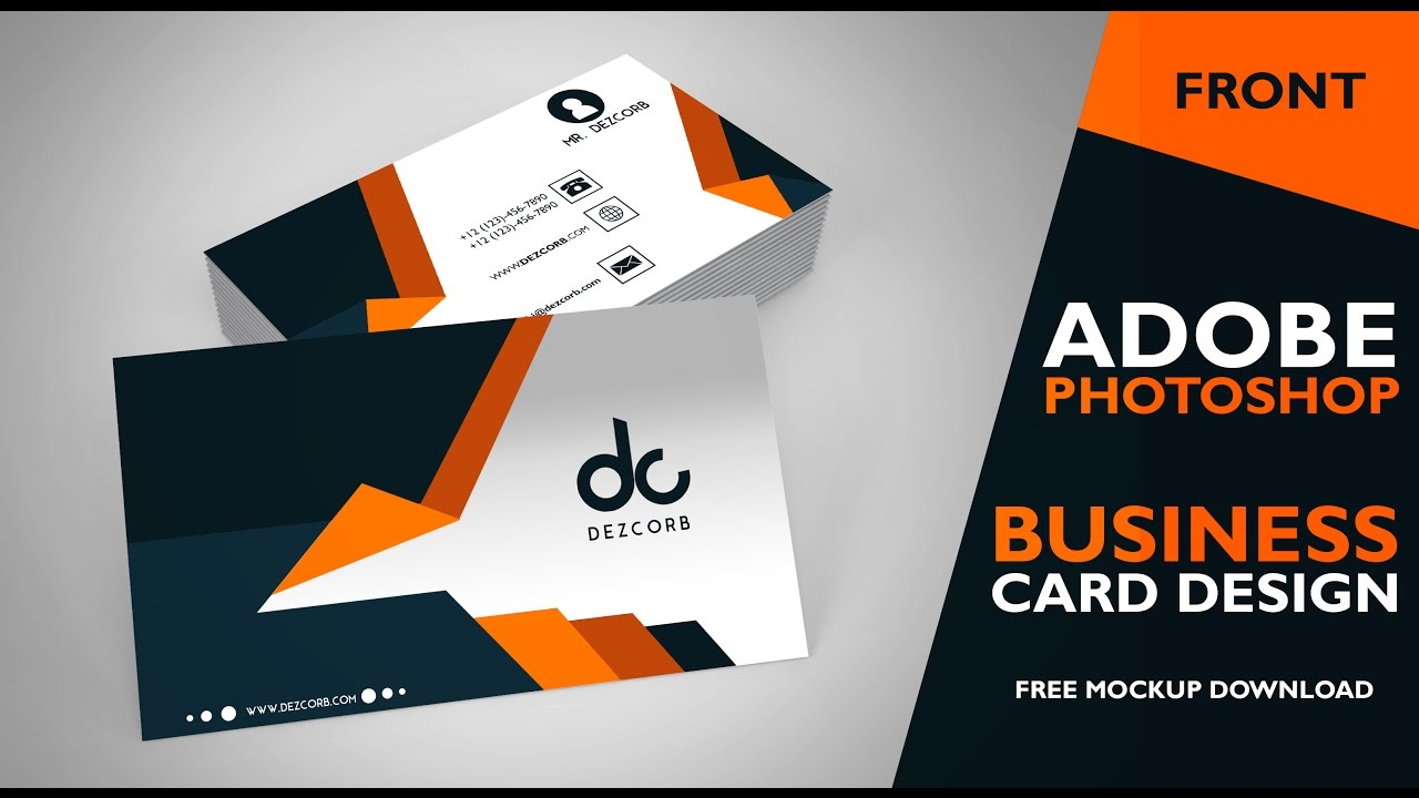Business Card Design In Photoshop Cs Front Photoshop Tutorial - Business card templates for photoshop