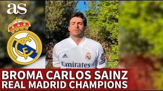 CHAMPIONS LEAGUE | La broma de CARLOS SAINZ JR. y su padre cuando el REAL MADRID juega | AS