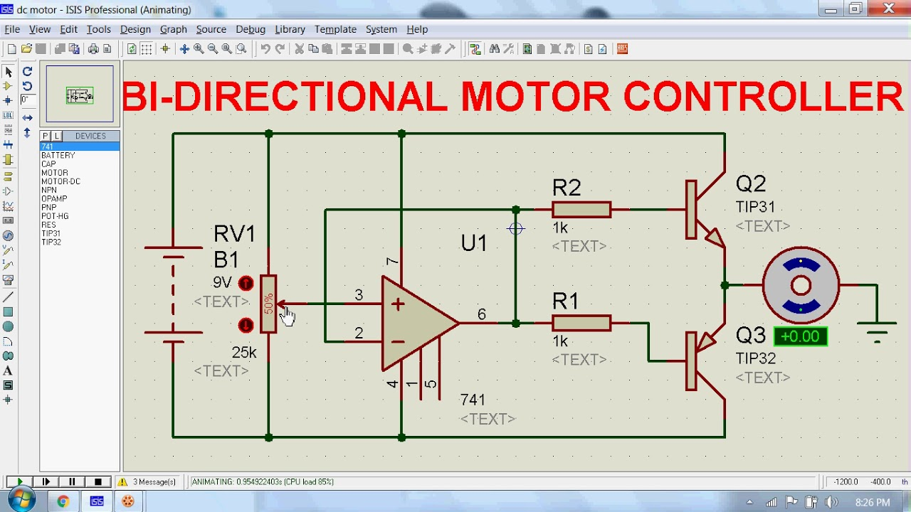 Bi-directional Motor Controller