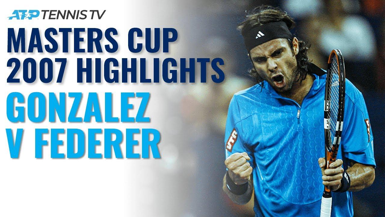When Fernando Gonzalez Shocked Federer! | Masters Cup 2007 Tennis Highlights