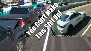Crashes, Dangerous Police And A Dump Truck?