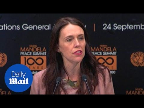 New Zealand PM Jacinda Ardern speaks at the UN