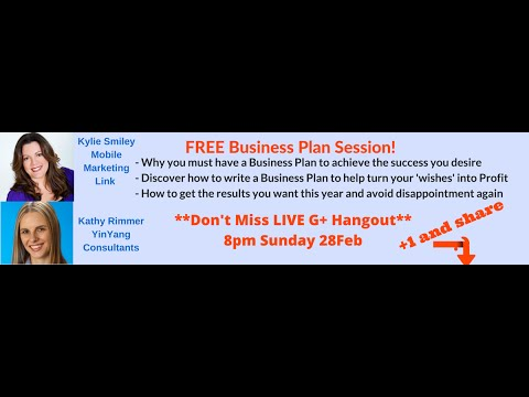 How to write a Business Plan - FREE Session [Mobile Marketing Link]