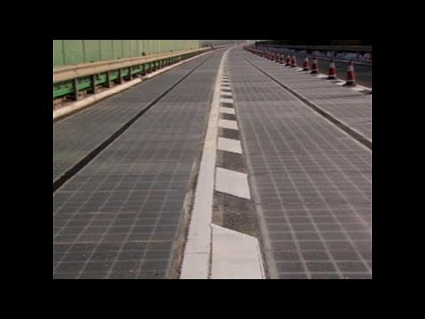 New solar-powered highway opens in China