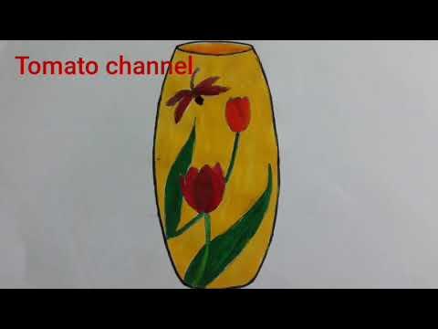 Vẽ và trang trí lọ hoa| drawing flower pot