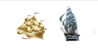 5 урок на салфетке  Корабли в море
