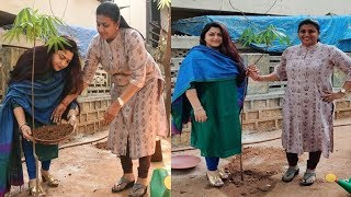 MLA RK Roja Takes up Green Challenge Along with Actress Kushboo |  cinema politics