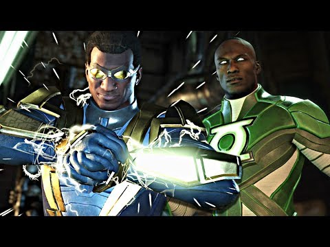 Injustice 2: ALL Black Lightning Intro Dialogues With Premier Skin Characters!!