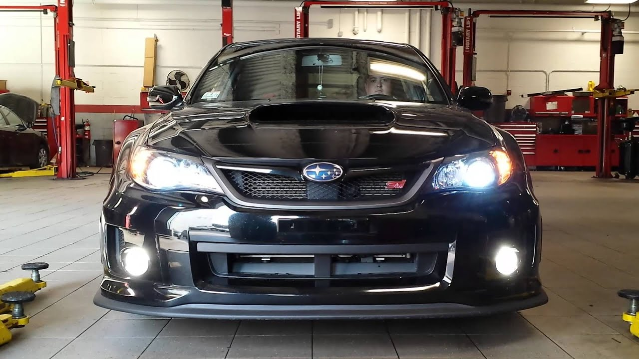 2011 Subaru Sti Fog Light Conversion Youtube