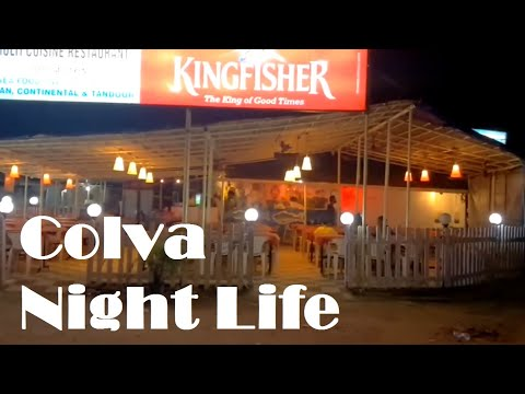 Colva beach market and night life (Oct 2016)