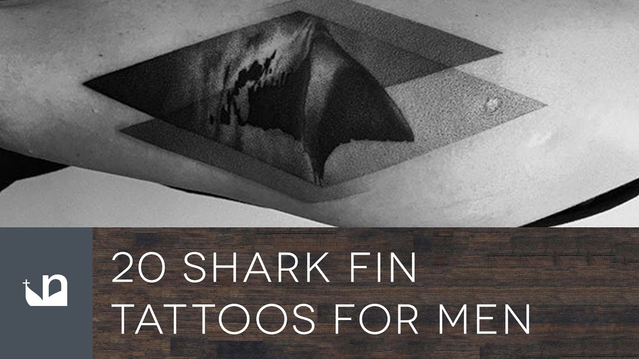20 Shark Fin Tattoo Designs For Men – Masculine Ink Ideas