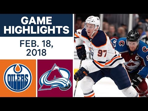 NHL Game Highlights | Oilers vs. Avalanche - Feb. 18, 2018