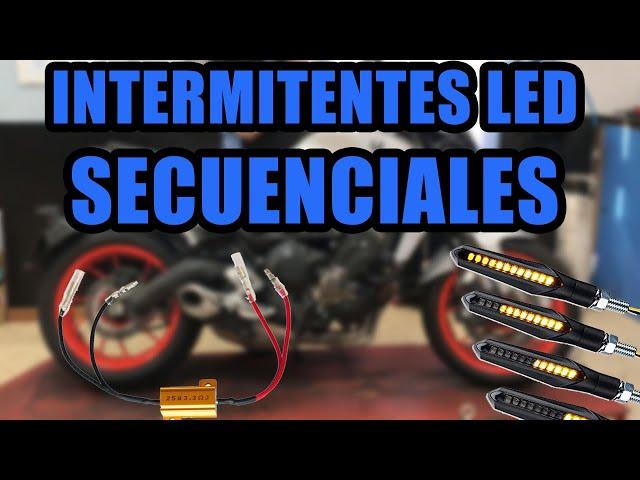 💡 MONTAR *INTERMITENTES LEDS* SECUENCIALES MOTO 1/2