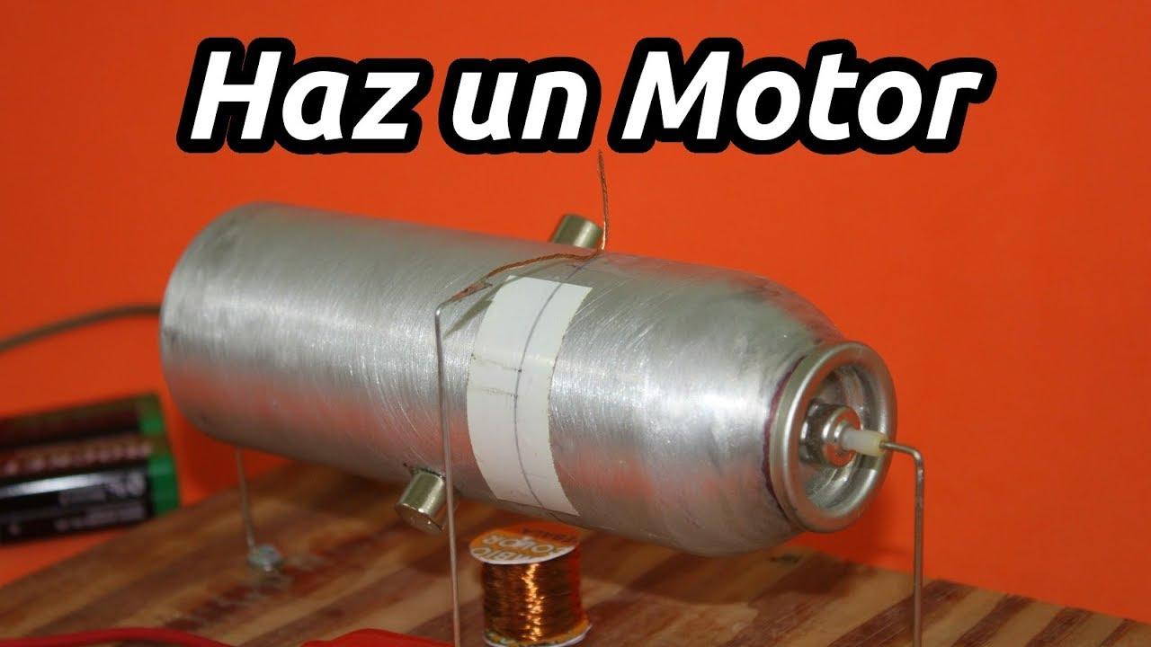 Motor Eléctrico Casero con Lata de Aluminio