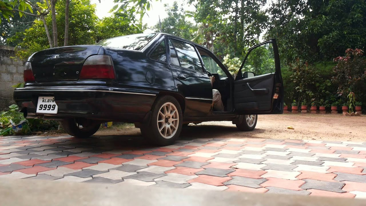 Daewoo cielo 1996 exhaust note - YouTube