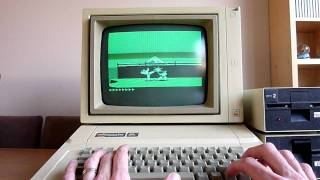 Apple IIe - gaming on Karateka