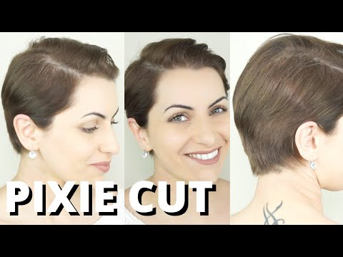 HAIRCUT TUTORIAL: HOW TO CUT YOUR PIXIE AT HOME. Haircutting / Trimming short hair for men and women from YouTube · Duration:  7 minutes 40 seconds