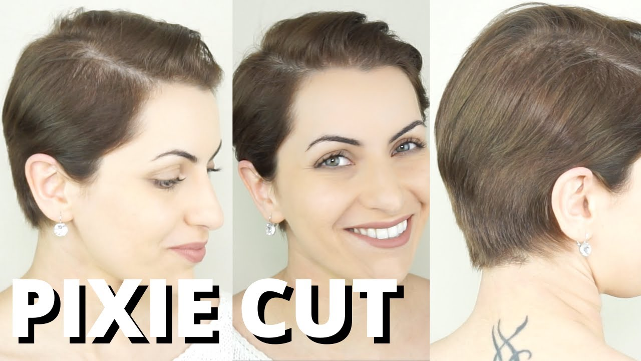 Haircut Tutorial How To Cut Your Pixie At Home Haircutting Trimming Short Hair For Men And Women Youtube