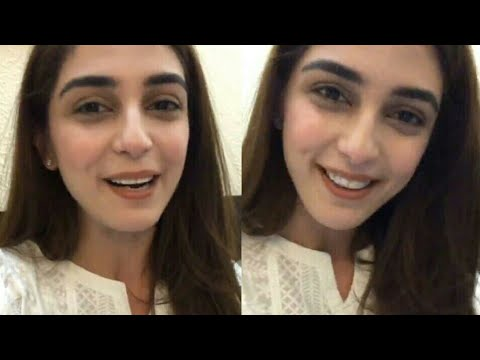 Maya Ali Live chat from Facebook for her fans